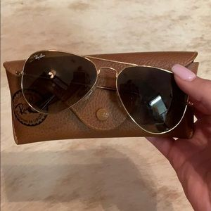 Ray- Ban aviator sunglasses